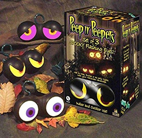 [Peep n' Peepers Flashing Eyes Halloween Lights] (Halloween Lighting)