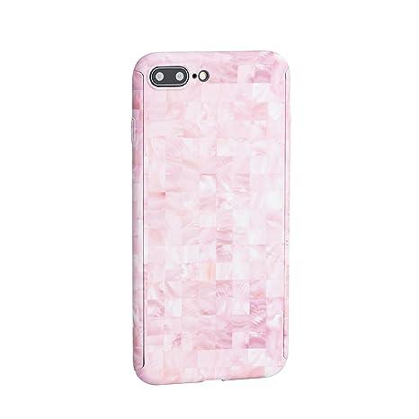 Awenroy Funda iPhone 6 Plus / 6S Plus Mármol Carcasa Dura Ultra Delgada Ligera Anti-Rasguño Antigolpes Choque Absorción con Vidrio Templado 360 Grados ...