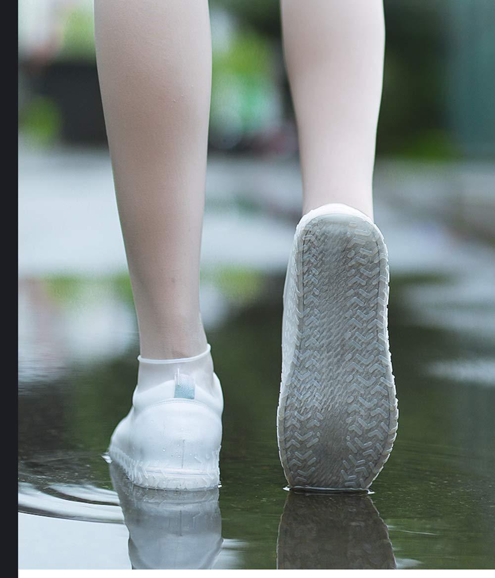 KDRose Rain Shoe Covers, Reusable Silicone Shoe Covers Waterproof Foldable Slip Cycling Outdoor Shoe Covers for Kids,Women,Men(Black,L)