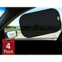 Universal Baby Side Sunshade Glare UV Protection Parentswell 4Pack Car Window Shade