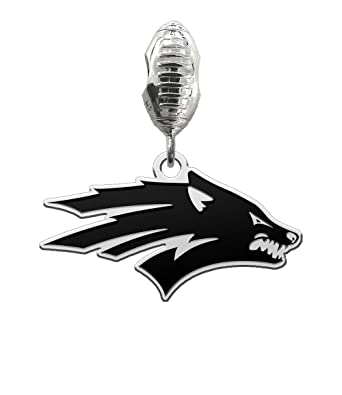 56445fd46 Image Unavailable. Image not available for. Color: College Jewelry Nevada  Wolf Pack Antique Football Dangle Charm Fits All European Style Charm  Bracelets