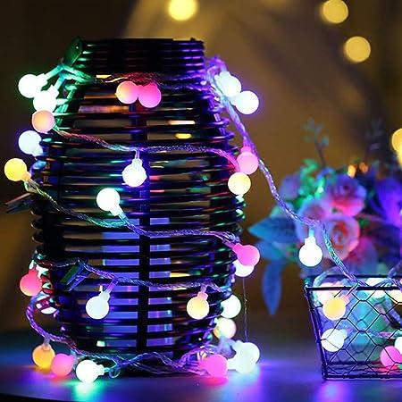 Ball Window Curtain Lights 10M 100LEDs Waterproof Plug Fairy Lights Ball Lights for Halloween Christmas Weddings Birthday Family House Party Indoor Outdoor Garden,A