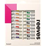Reeves Gouache Paint, 10 ml - Pack of 24