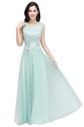 Babyonlinedress Women Long Evening Dresses For Special Occasion Aqua Size 2