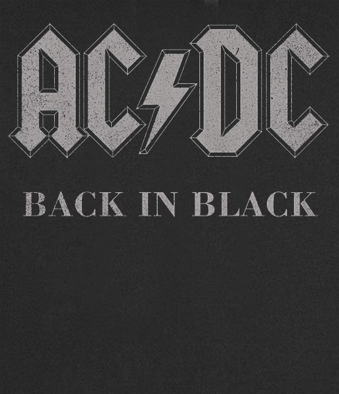 AC//DC Back In Black Camiseta 100/% algod/ón LaMAGLIERIA Camiseta Mujer ACDC