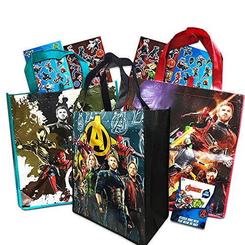 Marvel Avengers Tote Bags Value Pack -- 3