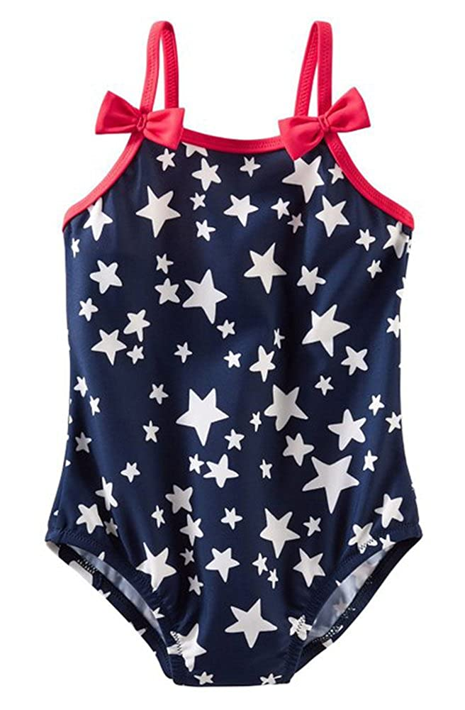Osh Kosh Bgosh Baby Girls Navy Stars One Piece Swim Suit