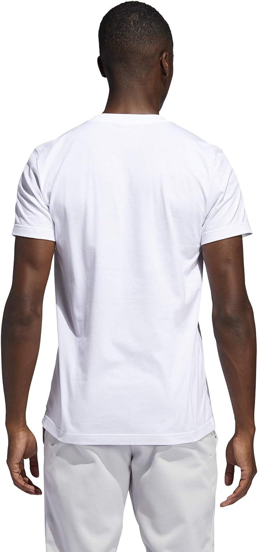 Hombre adidas Dame Logo tee Camiseta de Manga Corta XL White