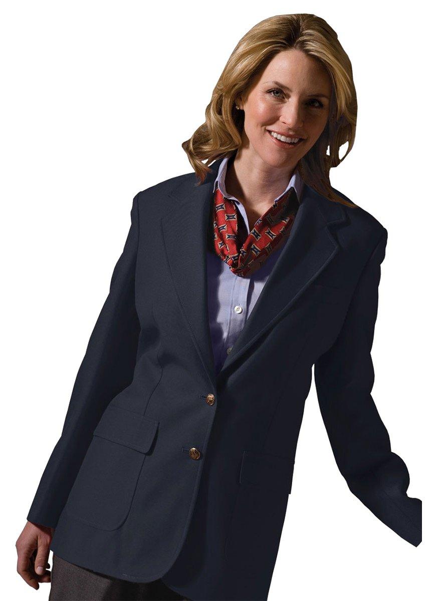 Edwards Garment Women's Two Button Single Breasted Blazer, Navy, 18