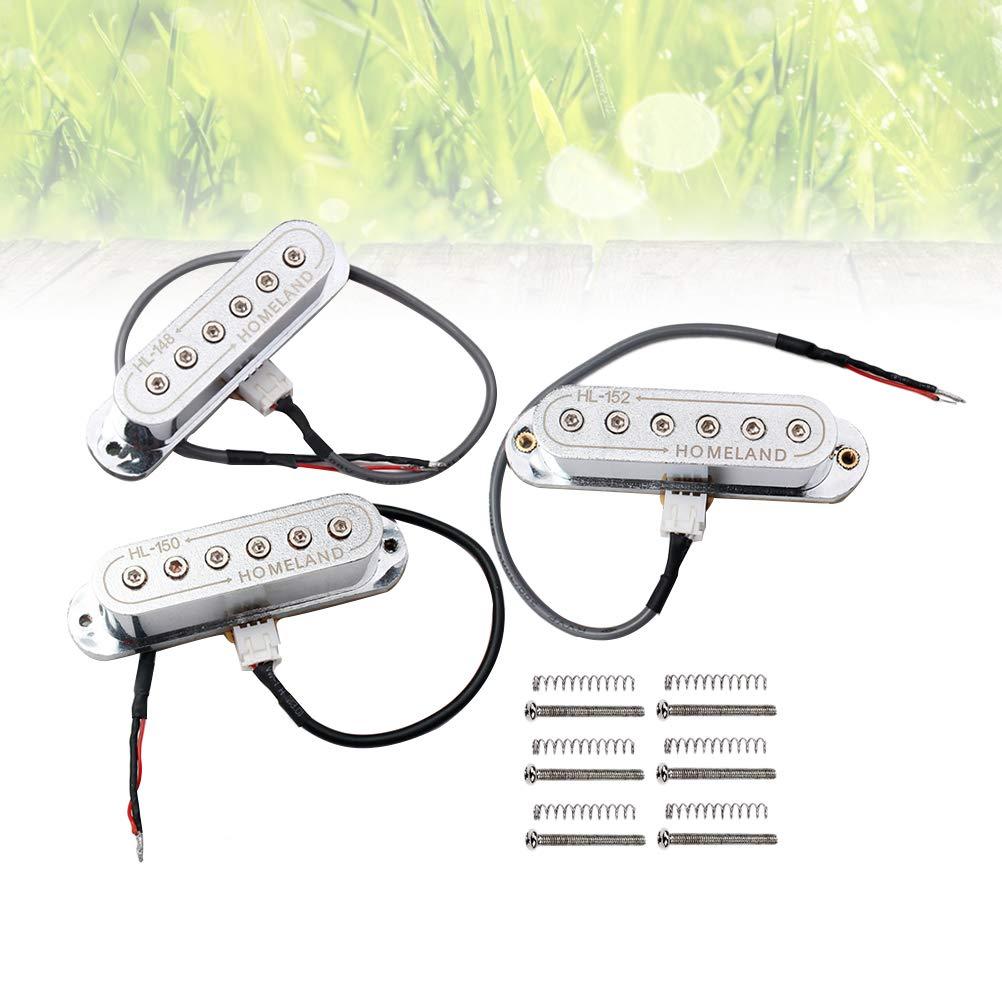 SUPVOX Juego de pastillas para reemplazo de partes de guitarra eléctrica Fender ST Strat Stratocaster con placa de circuito (astilla): Amazon.es: ...