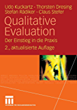 Qualitative Evaluation: Der Einstieg in die Praxis