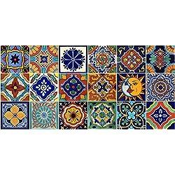 18mexicano Azulejos Talavera pintado a mano varios diseños, 4x 4