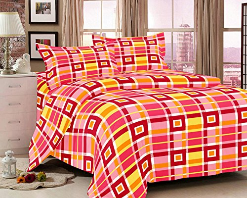 jiya Decor 100% Cotton Double Bed Sheet With 2 Pillow Cover-G1-AMZ1021