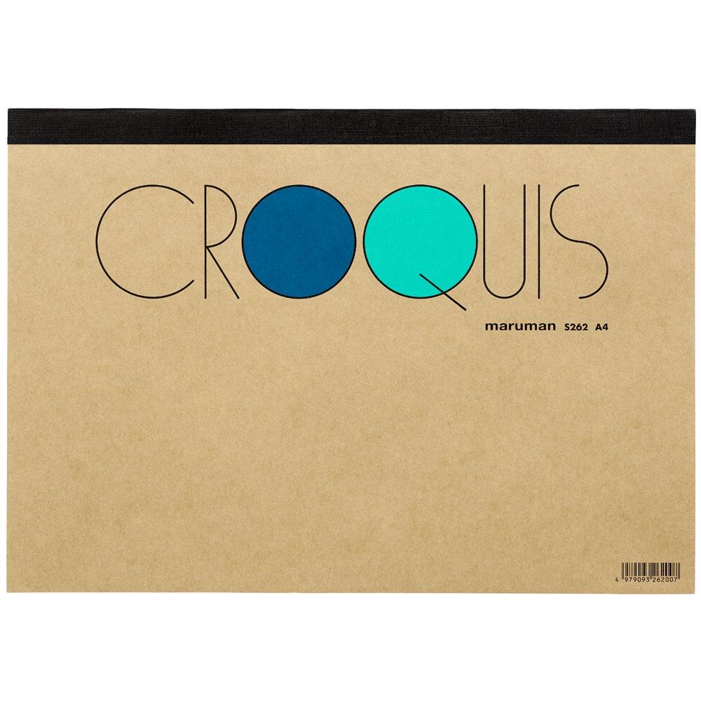 マルマン スケッチブック クロッキーパッド A4 白クロッキー紙 S262