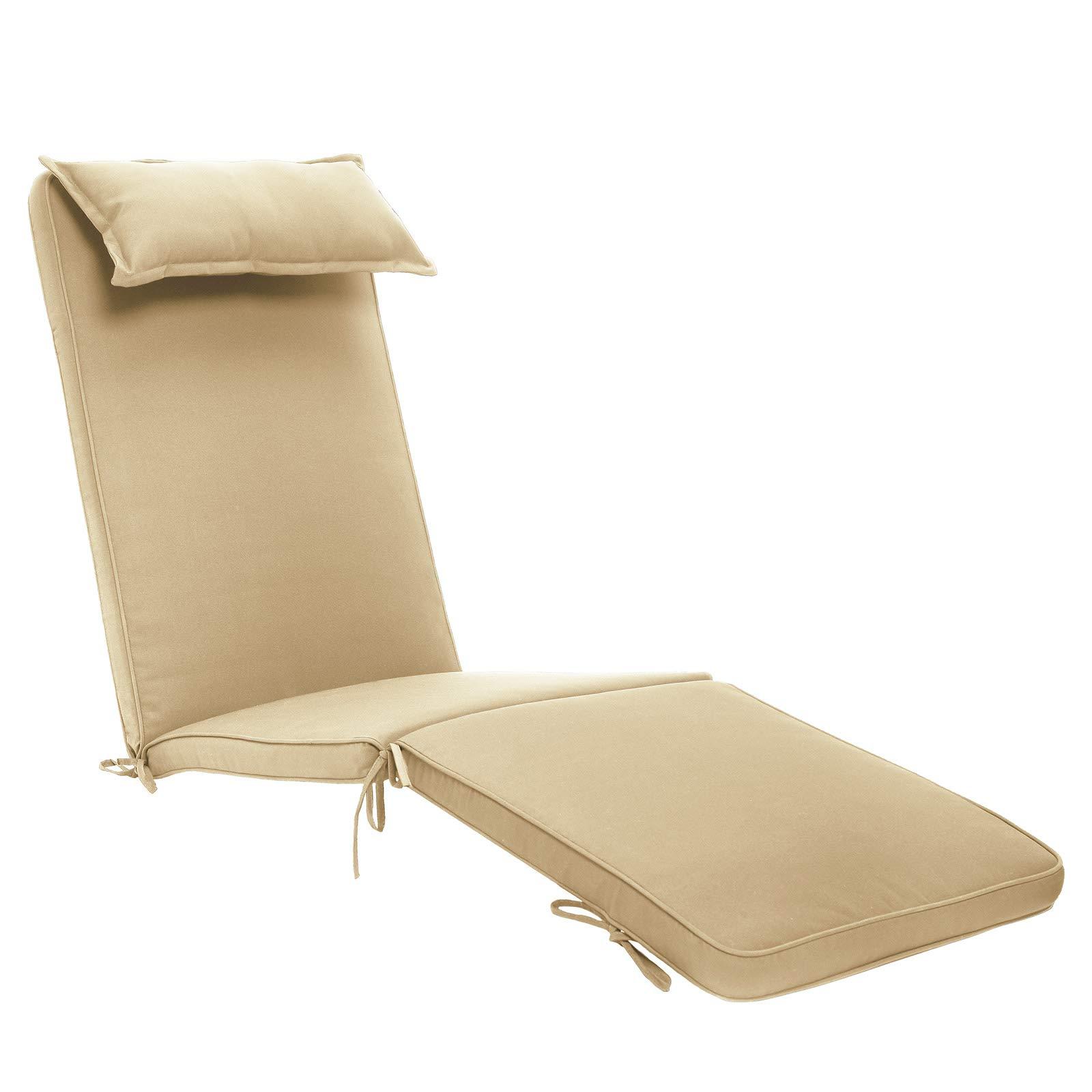 Outdoor Garden Chair Cushion 6x Patio Cushion Pads 43cm X 39cm X 5cm In Cream