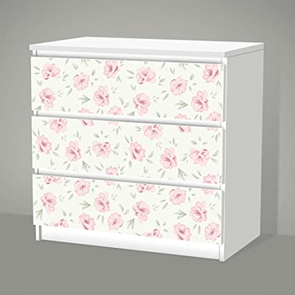 Posterdeluxe Ikea Malm 3 Drawers Shabby Chic Flower