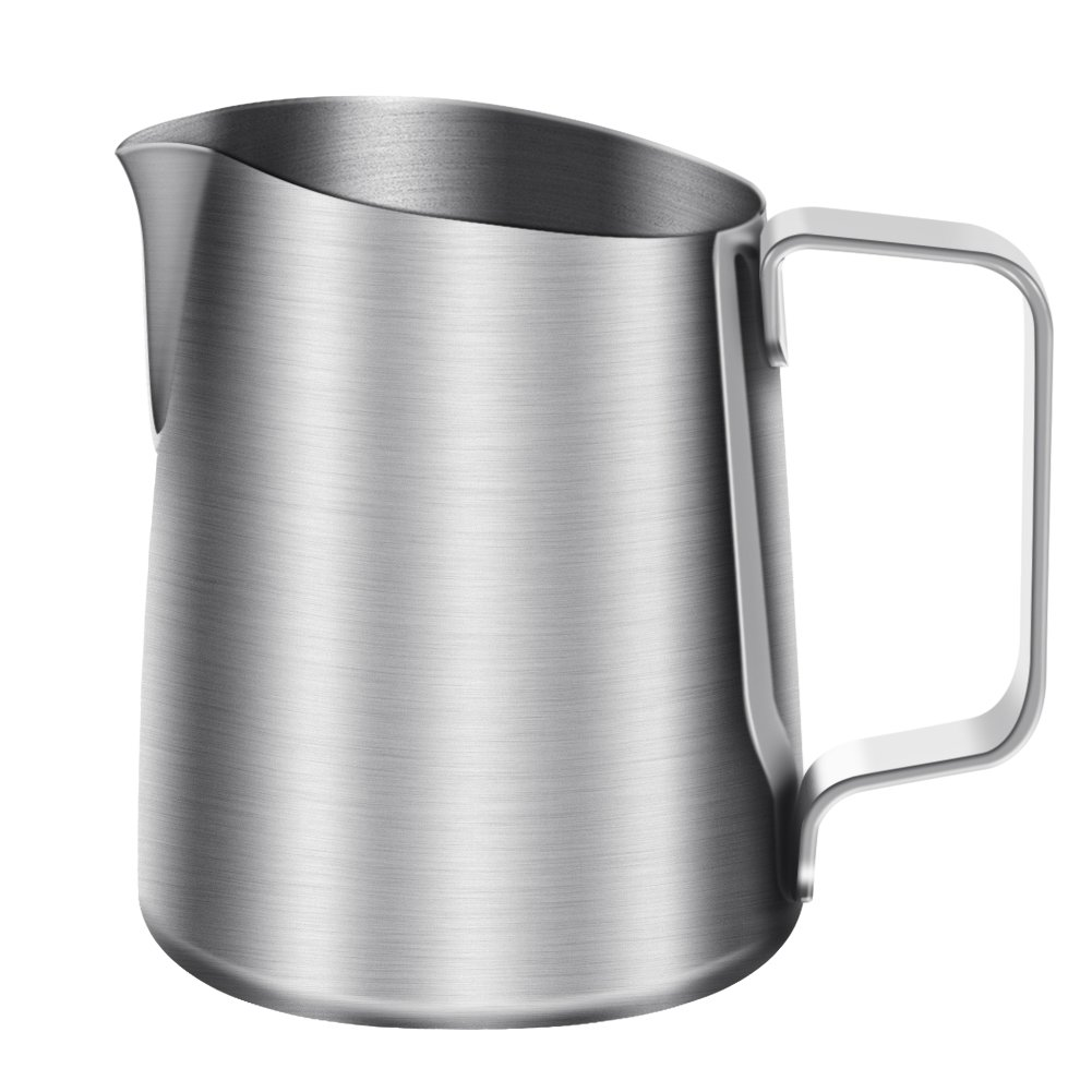 16oz/450ml Milk Frothing Jug Stainless Steel Milk Bubble Foam Pitcher Cup for Espresso Coffee Cafe Latte Art zyurong