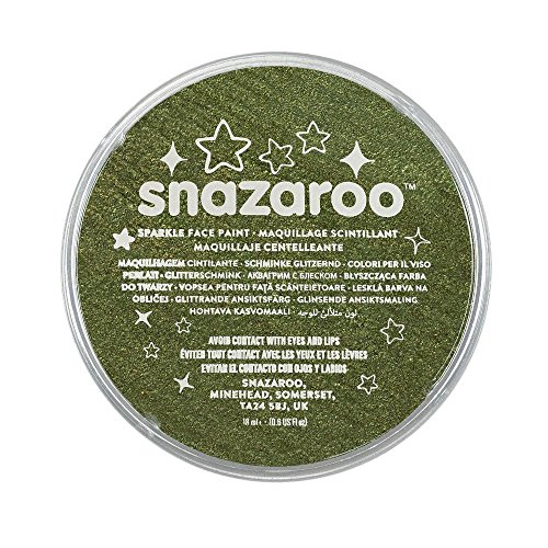 Snazaroo Sparkle Face Paint, 18ml, Sparkle Green (Green Face Makeup)
