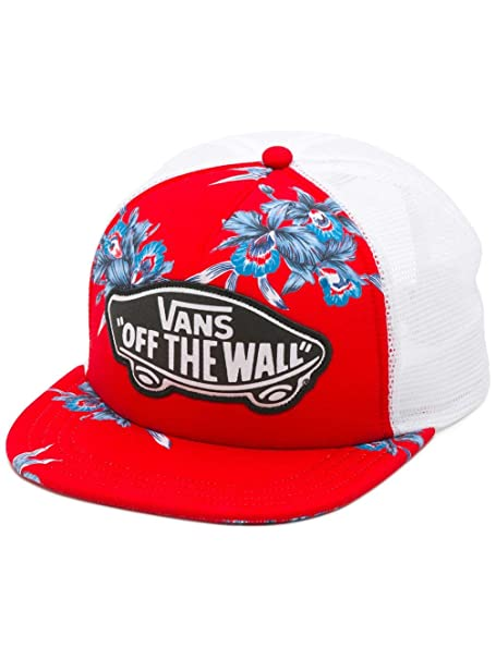 21c0d9a8 Image Unavailable. Image not available for. Color: Vans Beach Girl Trucker  Hat Tomato Hawaiian OSFA