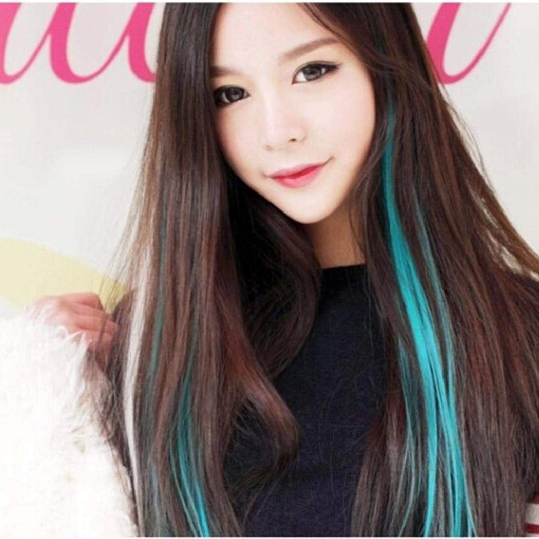 Adoeve Womens Realistic Fashion No Trace Multi Color Hair Extension