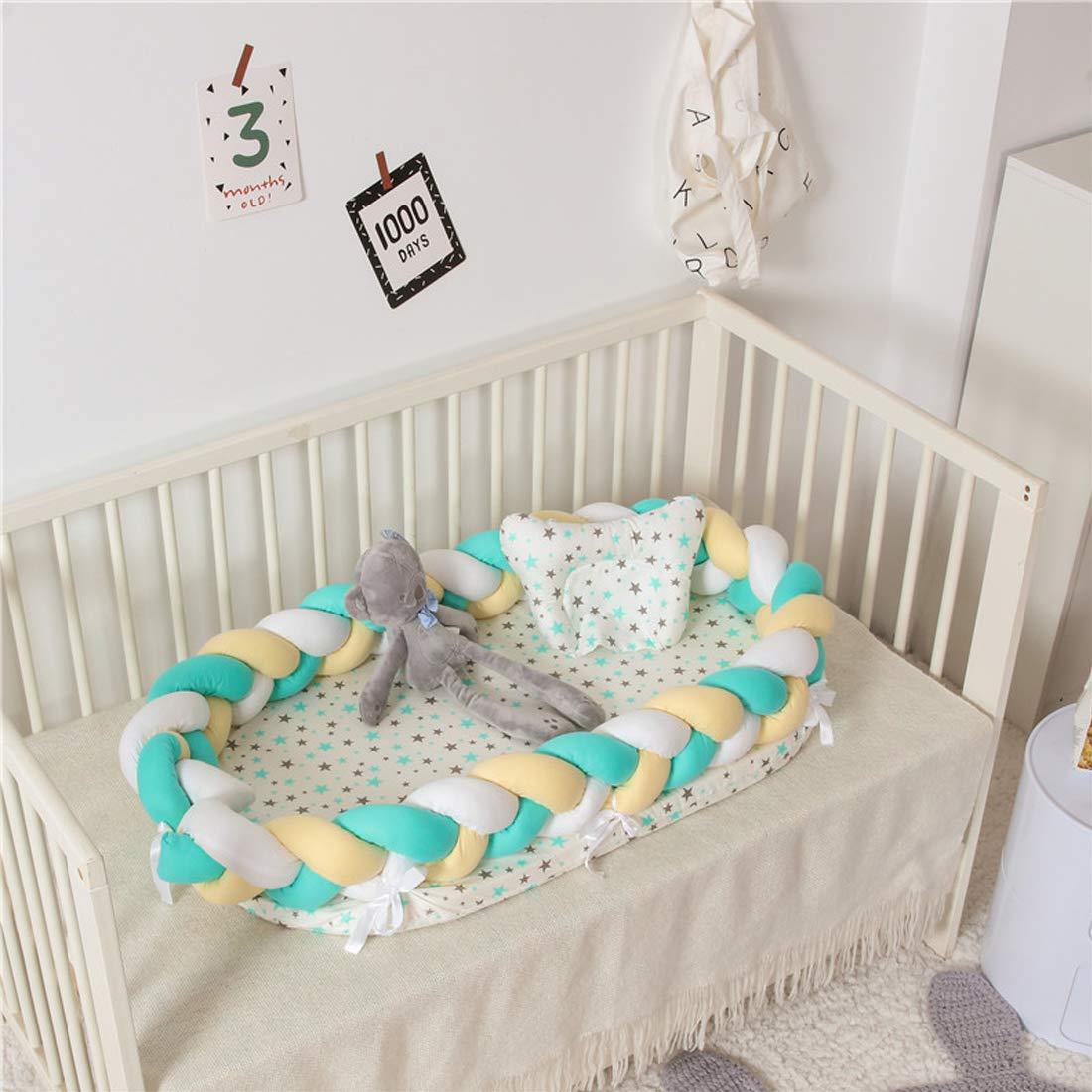 DorkasDE Babynest Kuschelnest Matratze im Bett Faltbett Babybett Reisebett mit Abnehmbarer Zaun