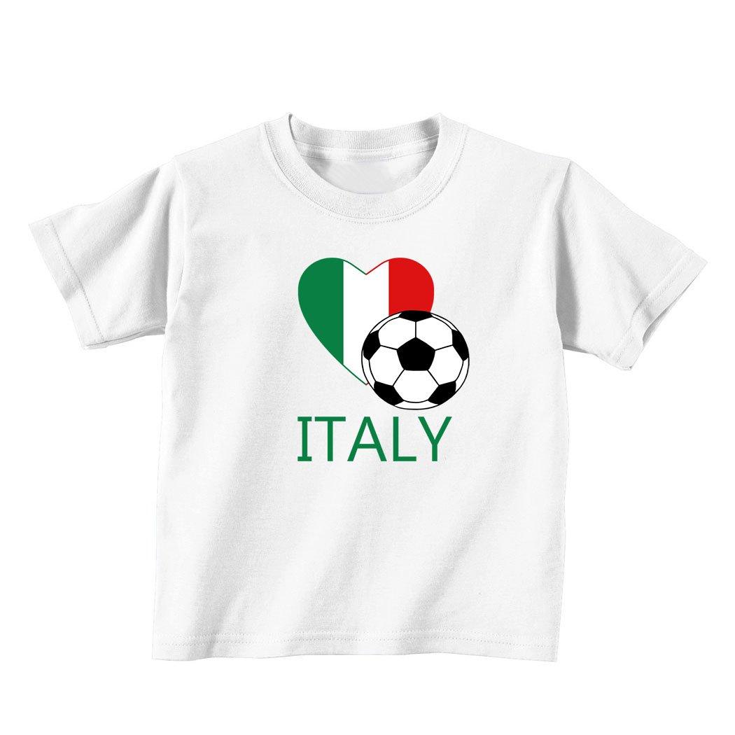 6mo Thru 7t 4t White Speedy Pros Italian Soccer Italy Futbol Football Baby Toddler Kid T-Shirt Tee