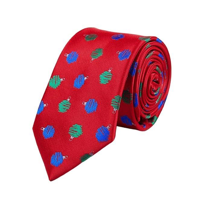 Corbatas de Navidad para hombre, diseño de árbol de Navidad con ...