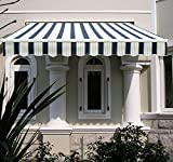 Greenbay DIY Patio Retractable Manual Awning Garden Sun Shade Canopy with Fittings and Crank Handle