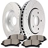 SCITOO Brake Kit Front Discs Brake Rotors and Ceramic Brake Pads fit 08-16 for Chrysler Town Country,08-16 for Dodge…