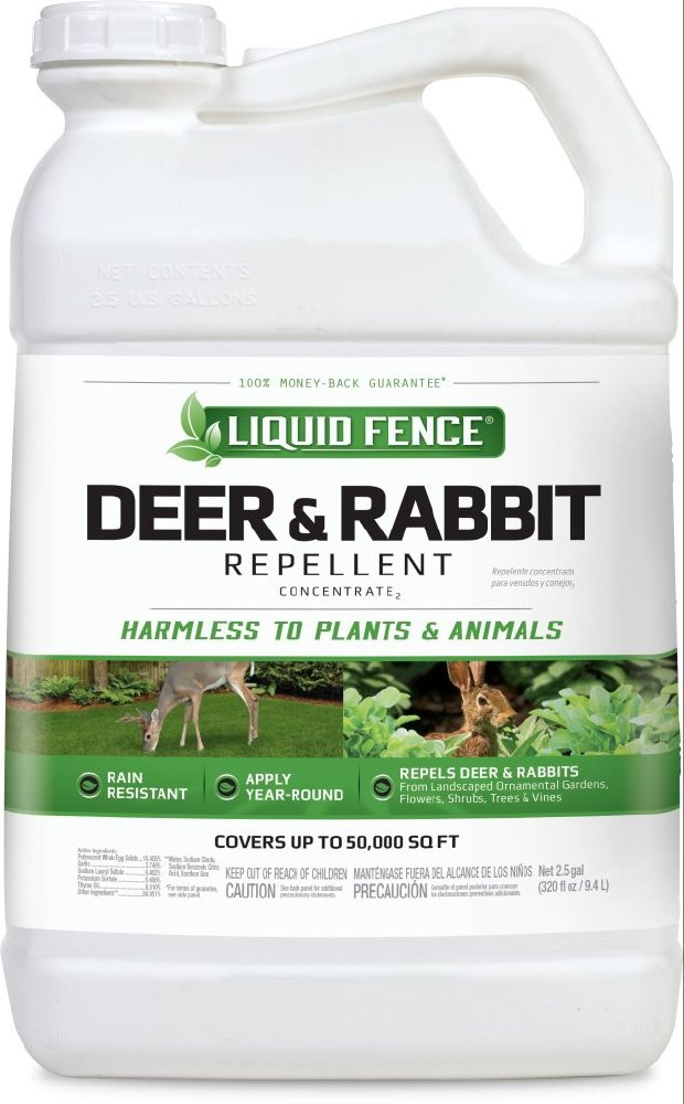 Liquid Fence HG-70123 Deer & Rabbit Repellent Concentrate, 2.5 gallon by Liquid Fence