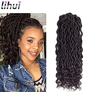 Amazon Com Lihui 6pcs Lot Goddess Locs Faux Locs Crochet