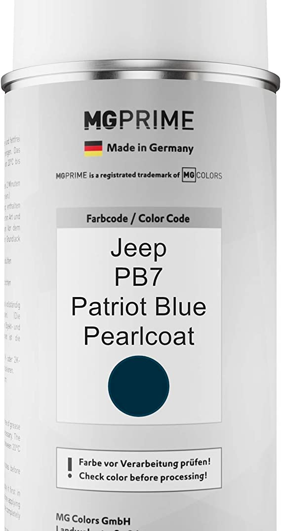 Mg Prime Autolack Sprühdosen Set Für Jeep Pb7 Patriot Blue Pearlcoat Basislack Klarlack Spraydose 400ml Auto