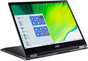 "Acer Spin 5 Convertible Laptop, 13.5"" 2K 2256 x 1504 IPS Touch, 10th Gen Intel Core i5-1035G4, 16GB LPDDR4X, 512GB NVMe SSD, WiFi 6, Backlit KB, FPR, Rechargeable Active Stylus, SP513-54N-56M2"