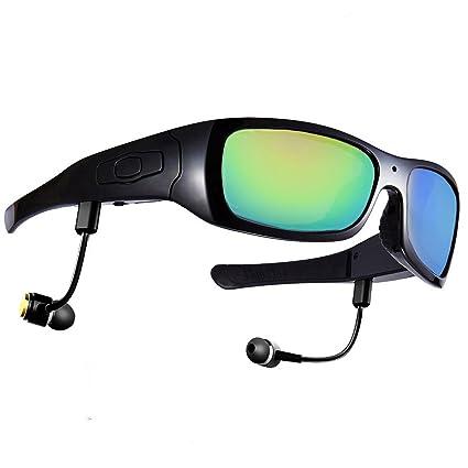 forestfish® Gafas de sol polarizadas con cámara 8 GB Grabador de vídeo HD auricular bluetooth