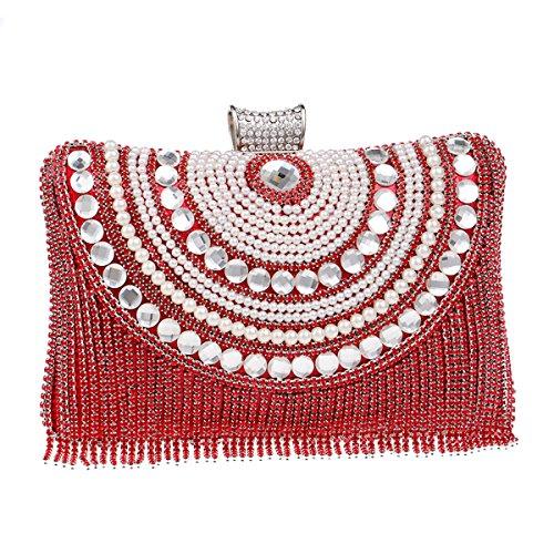 soirée de femmes en cristal incluse des Les 2x5x8inch diamant soirée chaîne C nuptiale des embrayages D 6x12x20cm d'épaule de sacs Avec Sac Iw7ffPq