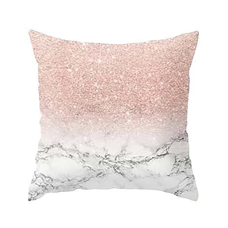 Fundas De Cojines, ❤️Xinantime Funda de almohada geométrica de textura de mármol Fundas de colchón Sofá Decoración (❤️Multicolor F)