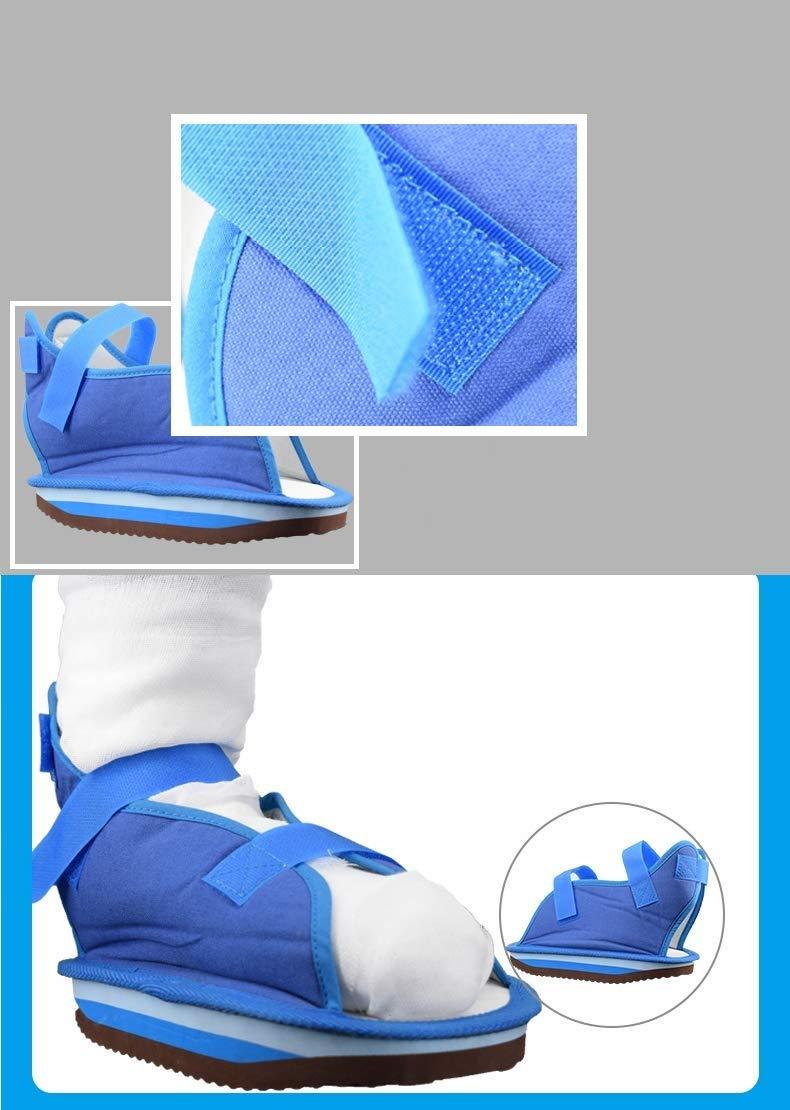 YxnGu Canvas Cast Sandal with Adjustable Straps - Post-Op Shoe for Men & Women - Walking Shoe for Broken Toe/Foot Fracture (Size : S)