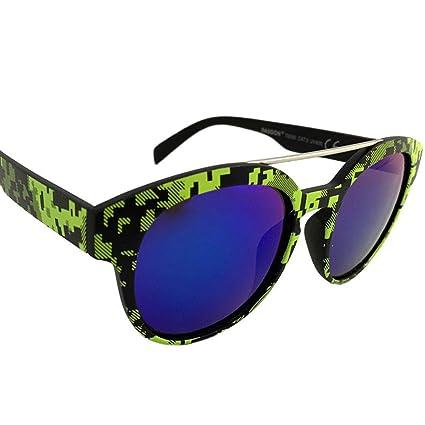 Dasoon Vision Gafas de Sol con Estampado geométrico en Verde ...