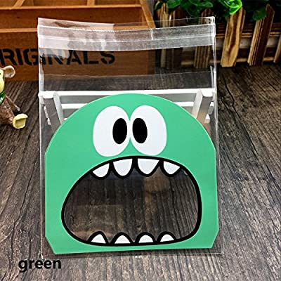 DeemoShop Cute Big Teech Mouth Monster Plastic Bag Wedding Birthday Cookie Candy Gift Packaging Bags