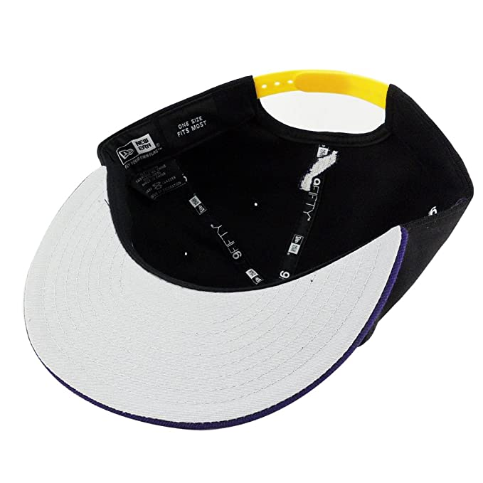 New Era 9fifty California Republic Bear Black Purple Visor Lakers Color Big Action Snapback Cap Hat at Amazon Mens Clothing store: