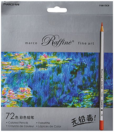 Marco ade 72-Color Raffine Fine Art Colored Pencils/Drawing Pencils for Sketch/Secret Garden Coloring Book (Not Included)