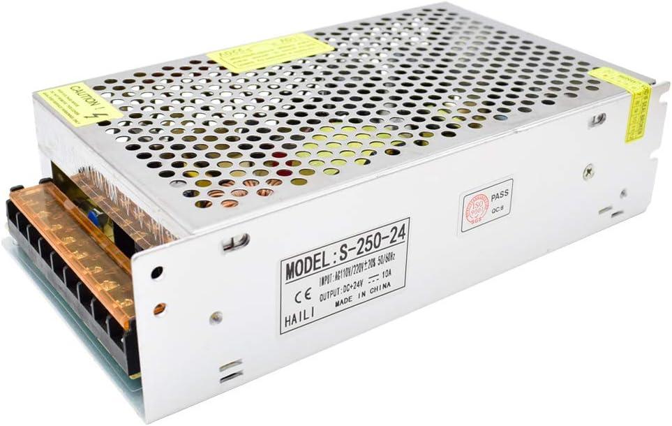 DC 24V Fuente de Alimentación Conmutada AC 110V / 220V a 24V 10A 240W Convertidor de Conmutación para Tiras de LED, Cámara CCTV