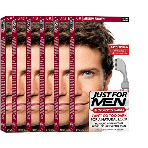 Just For Men AutoStop Men's Hair Color (6, Medium Brown) by Just for Men