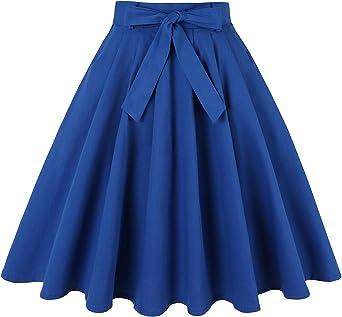 Falda plisada estilo vintage de los años 50 con faldas retro y ...