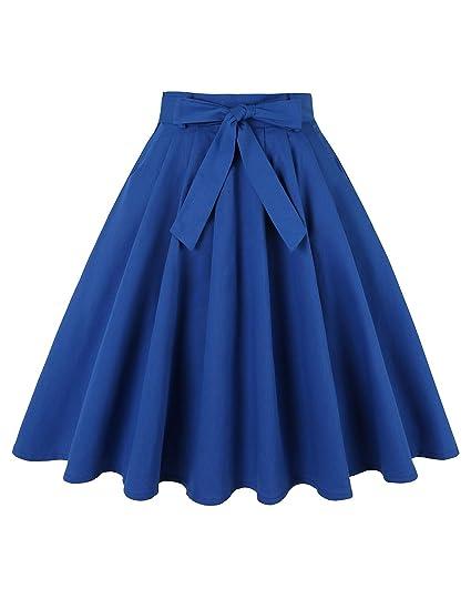 MINTLIMIT Falda Plisada Estilo Vintage de los años 50 con Faldas ...