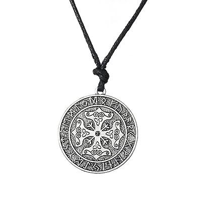 Vikings Calendrier.Skyrim Collier Avec Pendentifs Croix Nordique Viking Avec