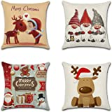 Christmas Theme Decoration - Throw Pillow Case Cushion Cover Linen Home 18x18in