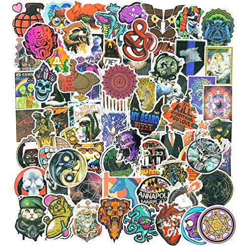 Cool Stickers Pack for Adults 100pcs Car Bumper Laptop Water Bottles Phone Skateboard Luggage Waterproof Vinyl Graffiti Decals -