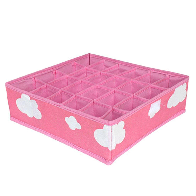 Chiffoned 2018 3 in 1 Per Set Foldable Storage Box Bag Home Organizer Box Bra Underwear Necktie Socks Drawer Closet Organizer Case,pink