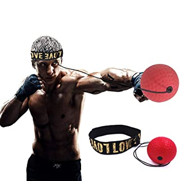 React Reflex Ball Kidte Training Head-Mounted Boxing Raising Reaction Force